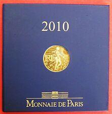 PIECE DE 100 EUROS EN OR PUR  999,9/1000 - ANNEE 2010  - MONNAIE DE PARIS