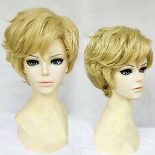 Anime Sailor Moon Sailor Uranus Cosplay Wig Tenoh Haruka Linen Blonde Wigs E119