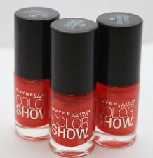 3 PK Maybelline Color Show Nail Polish 130 Crushed Clementine .23 oz