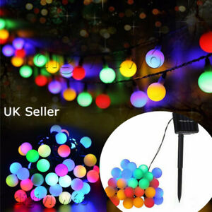 20 50 80 LED Solar Battery Powered Garden Party Fairy String Ball Lights Multi