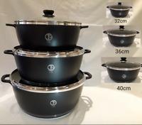 6Piece Super Non Stick Large Cookware Ceramic Coated Cooking Saucepans Pots Set