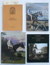 4 Auction Catalogs Christie's Sotheby's w/ SPORTING ART and English Pictures NR!