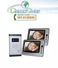 """Videocitofono a colori con doppio monitor LCD da 7"""""""