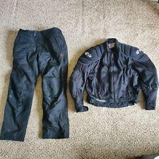 Joe Rocket Phoenix Black Motorcycle Racing Mesh Jacket & Pants Set Sz Xl