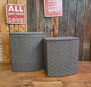 Wäschesammler Wäschekorb Wäschetonne + Deckel Wäschebox Braun Wäschtruhe