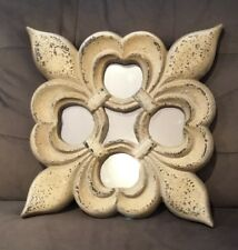 """Decorative Resin Gothic Stone Look Wall Mirror 14"""" X 14"""" Square Or Diamond Shape"""