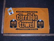 MYRON COPES OFFICIAL TERRIBLE TOWEL SUPER BOWL IX 40TH ANNIVERSARY EDITION NWT
