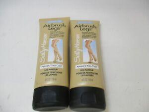 2 SALLY HANSEN AIRBRUSH LEGS MAKEUP LOTION - FAIREST - 4 OZ EACH - NEW - JL 2265