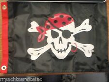 "PIRATE HEAD FLAG ONE EYED JACK TAYLOR 32-1807 12""X18"" BOATING BOAT FLAG"