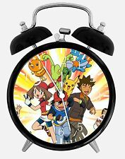 "Pokemon Pikachu Alarm Desk Clock 3.75"" Home or Office Decor E07 Nice For Gift"