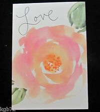 Leanin Tree Wedding Love Marriage Flowers Greeting Card Multi Color R151