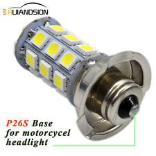 1pc 540lumen P26S Lamp Bulb LED DC 6V Motorcycle Headlight Bulb 27smd 5050 Chip