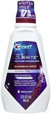 Crest3d White Glamorous White Blanqueadora fresco sabor a menta enjuagues bucales 8fl Oz 237ml