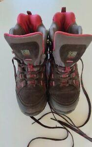 KARRIMOR MOUNT MID LADIES WALKING/HIKING BOOTS CHARCOAL WATERPROOF SIZE 6.5 VGC