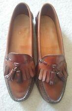 Barneys New York Tassel Slip On Men's Loafers Brown Leather Size 9M