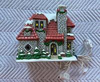Vtg. Lefton Colonial Village Stone House 06338 Byron Wood Christmas Village EUC