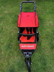 Out N About Nipper 360 V4 Carnival Red Buggy Pushchair Pram