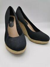 Joe Browns ladies wedge shoes black mix size UK8 003