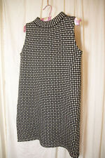 Black & White Monochrome Geo ZARA Short Sleeveless Jumper Dress Size M / 10 - 12