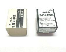 New Sola 84 12 110 Power Supply Module 115vac Input 12vdc 100ma Output
