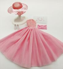 BARBIE FASHION PINK PARTY DRESS  MINT!   FREE EXTRAS  PRETTY!  SPECIAL OFFER!