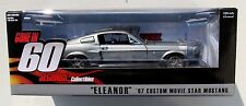 "1:18 GONE IN 60 SECONDS ""ELEANOR"" 1967 CUSTOM MOVIE STAR MUSTANG 1:18 DIECAST"