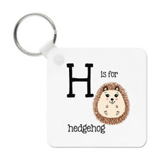 Letter H Is For Hedgehog Keyring Key Chain - Alphabet Cute Animal Funny