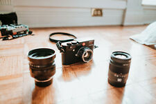 Leica M Typ 240 (24.0MP) Black Camera Kit with 3 Lenses, Strap, and 2 Batteries