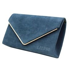 Womens HandBags Velvet Clutch Bag Envelope Metallic Frame Evening Bridal Bag