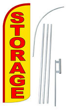 Storage 3' Wide Windless Swooper Feather Banner Flag Advertising Sign Kit