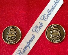 ONE PAIR COLT FIREARMS CUSTOM SHOP GRIP MEDALLION 1/2'' NEW $20.00 PER PAIR