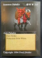 MTG Middle Ages Sticker Card - Anti-Paladin  - 1994 Magic the Gathering