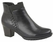 Ladies Womens Ankle Boots Zip Mid Heel Memory Foam Velvet Lined Shoes Size