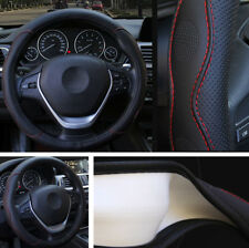 38CM Vehicle Car Embossed Steering Wheel Cover PU Leather Anti-slip Four Seasons