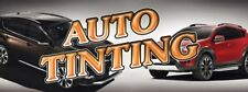 Auto Tinting (Gold And Black) Vinyl Banner Sign - 3' X 8'