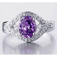 Bliss Women's Amethyst gemstone Sterling Silver 2.10Ctww Fashion Engagement Ring