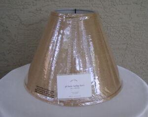 "NWT Pottery Barn PB Basic Burlap Lamp Shade Small 10"" x 13""  (2 Available)"