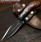 Louis Martin Handmade D2 Tool Steel Hard Wood Hammered Art Hunting Skinner Knife