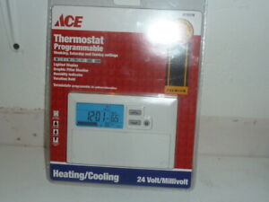 ACE Thermostat Programmable 4115176 Weekdays Saturday Sunday Settings Cool Heat