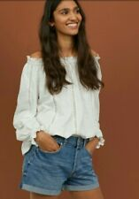 Womens holiday off shoulder top blouse by H&M, 14 Bnwt