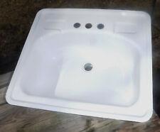 """Vintage White Sink Porcelain over Steel 20 X 17 3/4"""""""