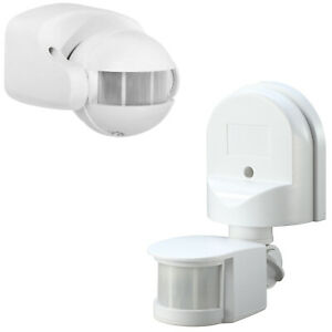 Stand Alone External PIR Motion Detector Sensor Outdoor Security Light White