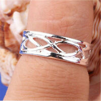 2016 Celebrity Fashion Simple Sliver Plated Adjustable Toe Ring Foot Jewelry FF