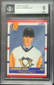 1990-91 Score American JAROMIR JAGR #428 Rookie RC BGS 9.5,9,9,9 TRUE MINT!! HOT