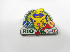 Pikachu 2016 Rio Olympic Pin Pokemon MEDIA TV Tokyo Japan Badge New