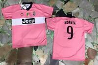 maglia juventus ufficiale MORATA 9 2015/2016 official JERSEY juve AWAY ROSA PINK