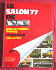 L'AUTO-JOURNAL  N° SPECIAL SALON  77  de  SEPTEMBRE 1977