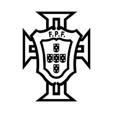 Autocollant Portugal FPF logo foot adhésif stickers couleur noir 10 cm