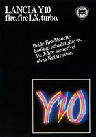Prospekt Lancia Y10 fire + LX + turbo 6/86 Autoprospekt 1986 Broschüre brochure