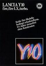 PROSPEKT LANCIA y10 Fire LX + + Turbo 6/86 auto PROSPEKT 1986 opuscolo brochure